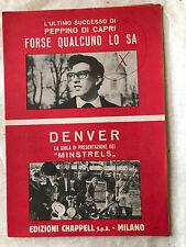 SPARTITO MUSICALE FORSE QUALCUNO LO SA PEPPINO DI CAPRI DENVER MINSTRELS POP