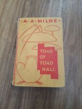 Rare First Edition Toad Of Toad Hall A.A. Milne Book 1929