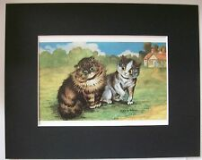 Cat Print Louis Wain Please Mr Persian Colored Bookplate Kitten 1983 8x10 Matted