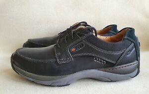 CLARK'S Active Air Vent Men's Black leather Walking Shoes Uk Size 9G (Euro 43).