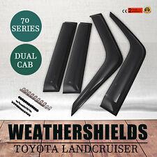 Weathershields For Toyota Landcruiser 70 76 78 79 Series Visors Dual Cab STD GXL
