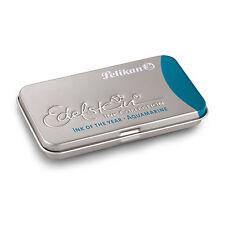 Pk/6 Pelikan Edelstein Fountain Pen Ink Cartridges, Aquamarine