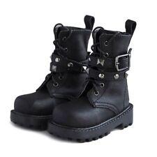 [wamami] 46# Black 1/4 MSD Locomotiv BJD Rivet Synthetic Leather Shoes/Boots