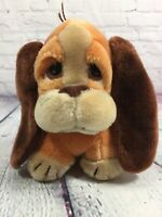 "Vintage 1983 Mattel Emotions Plush Puppy Dog Stuffed Animal - 7"" Tall"