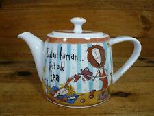 Johnson Brothers Born to Shop Porcelain Teapot & Lid Instant Human Just Add Tea
