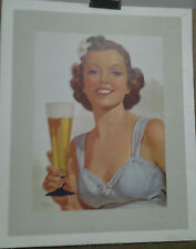 AFFICHE PUB ANCIENNE BIERE PIN UP ALBERT FISHER