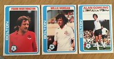 3 Trade Cards Bolton Players by Topps 1979 Footballers (Pale Blue Back) 17-63-84