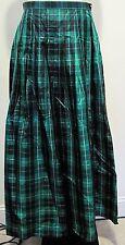 Worth Multi Color Long Pleated 100% Silk Skirt Size PETITE 8