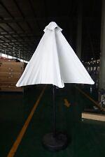 Outdoor Umbrella Patio Market White 9FT
