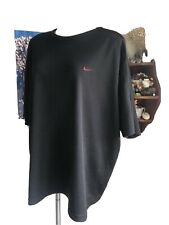 Nike Vintage Black and Red Workout Shirt Thermal Used Black Active Shirt Xxl