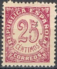 [CF7126] España 1938, Cifras, 25c (MNH)