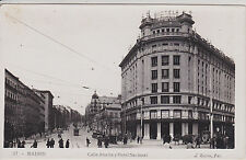 MADRID, SPAIN. CALLE ATOCHA Y HOTEL NACIONAL.  REAL PHOTO POSTCARD