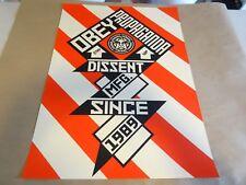 2010 Obey Giant Shepard Fairey CONSTRUCTIVIST BANNER ART PRINT PASTER POSTER
