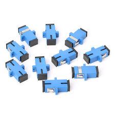 Blue 10PCS SC/UPC Fiber Optic Adapter SC Fiber Optic Flange SC/UPC Connector