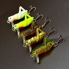 5pcs Top Cricket Insect Lure 4cm/3g Popper Fishing Lures CrankBait Bass Tackle