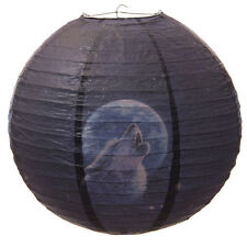 Howling Wolf Round Paper Lamp Light Shade