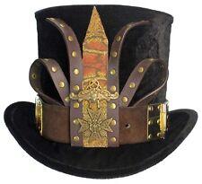 Tall Black Top Hat Snake Oil Salesman Steampunk Gypsy Victorian Gentlemens Mens
