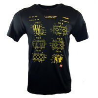 LEGO Men's T-shirt - BLUEPRINT TOY BUILDING BLOCK PATENT DRAWING OFFICIAL TEE