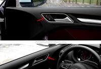 For Audi A3 8V 2012-2017 Stainless Steel Interior Door Bowl Frame Trim 4pcs