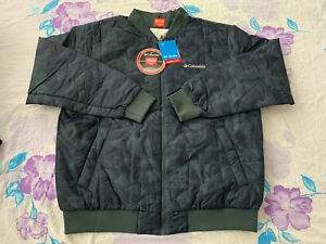 $150 Size XL Men Columbia Hawlings Hill Thermal Coil Printed Bomber Jacket