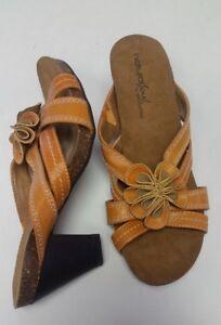 7.5 | Natural Soul Penman Women's Leather Slingback Heel Pump Sandal Shoe EUC