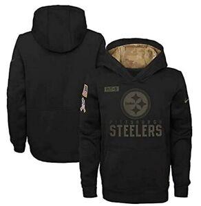 Pittsburgh Steelers Nike Youth Boys 2020 Salute to Service Hoody Sweatshirt