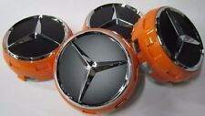 Véritable Mercedes-Benz AMG EDITION orange centre cap set BNIB 2232