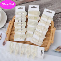 5Pcs/set Pearl Hair Clip Barrettes Fashion Korean Hairpins Accessories For Women