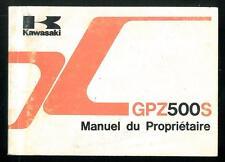 Manuel du Propriétaire KAWASAKI GPZ 500 S ( EX ) 1991/92 Utilisateur en Français