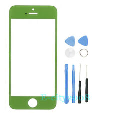 New LCD Front Screen Glass Lens + Triple Layer Hybrid Hard case For Iphone 5 5G