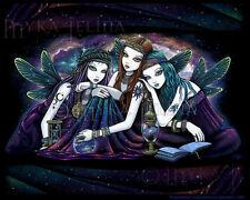 Star Fairy Sisters Celestial Nebula Angel Signed Myka Jelina Print Seraphina