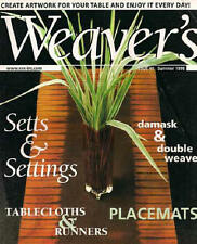 Weaver's magazine 40: ~ Setts ~ tablecloth, runner, placemat,doubleweave, damask