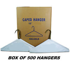 "BOX OF 500 - Wire Hangers 16"" CAPED HANGER = BRAND NEW"