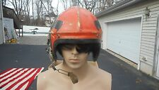 WW2 H-4 Pilot Flight Helmet Size Large MFG Gentex Custom Painted Named