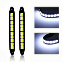 2X 20W Waterproof LED 12V Daytime Running WHITE Light DRL COB Strip Lamp Fog Car