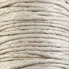 Cordon Coton Ciré 1mm – 4m Blanc ivoire pour Colliers et Bracelets de perles