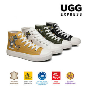 UGG Women Flats Tom & Jerry Quacker Casual Canvas High Top Ankle Sneaker