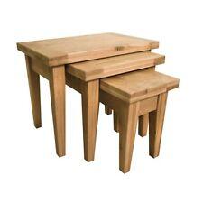 Unbranded Oak Nested Tables