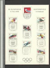 1975 2 SÄTZE NR 1498-1501+1518-1521 AUF BLATT GESTEMPELT  (A100)