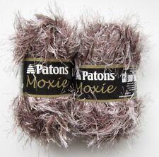 2 Skeins Patons Moxie Faux Fur Look Eyelash Yarn 81050 Raccoon