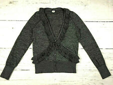 J Crew Heather traversa cardigan womens S long sleeve ruffle button down sweater