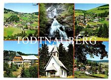 Todtnauberg Germany Black Forest Village Waterfall Church 1986 Postmark Country