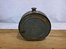 Antique TIN SOLDERED Whiskey Flask Hip Pocket Bottle PRIMITIVE 1800'S