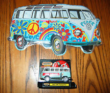 Vw Hippy Tin Bus Sign- Love, Peace and Woodstock! Ready for Hanging