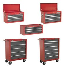 Pro Red Tool Top Box Chest Storage Unit Cabinet Heavy Duty Ball Bearing Rollcab