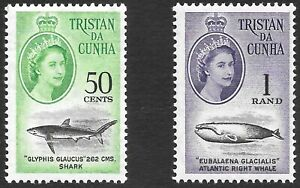 TRISTAN DA CUNHA 1963 50c & 1r values, UM. SG 53/54. Cat.£74.