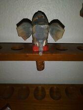 Rare Anri Hand Carved Mechanical Bottle Stopper Elephant