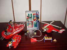 PLAYMOBIL Feuerwehr-Set USA mit brennender Häuserwand
