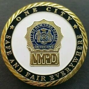 45mm NYPD POLICE DEPARTMENT Challenge Coin FREE COIN STAND AND BRAND NEW FITTED