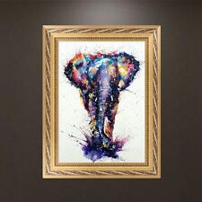 DIY 5D Diamond Embroidery Painting Elephant Cross Stitch Craft Home Decor Animal